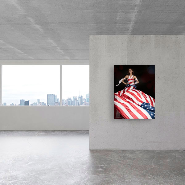 Flagge im Wind