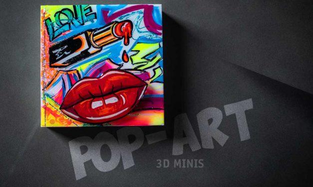 3D popart-Minis